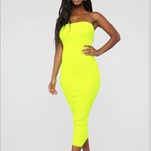 cb2d03d01000 Tops - Fashionnova Neon green tube midi dress